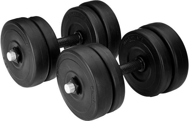 Unishore PVC 8 KG Home Gym Combo Weight Plates Set Gym & Fitness Kit