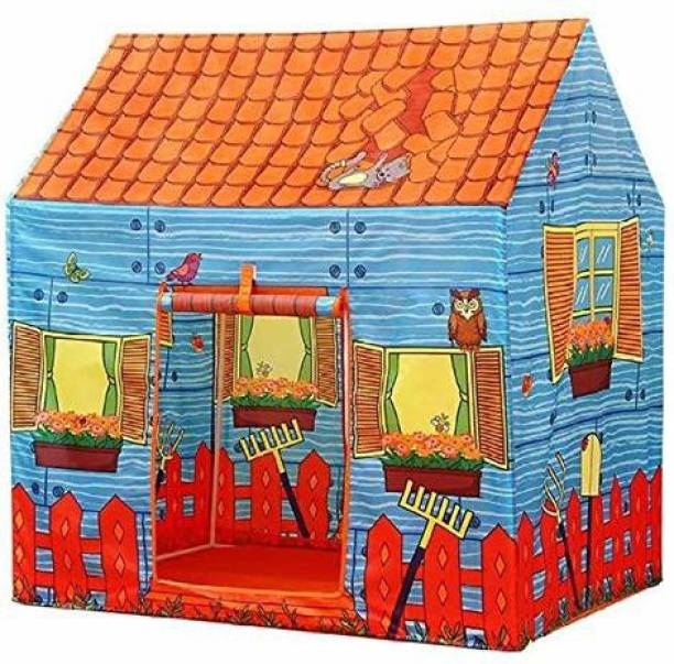 Sotnof Foldable Farm House Play Tent Indoor & Outdoor Pop-up Play Tent House Toy