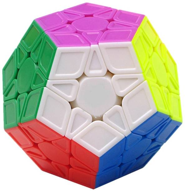 D ETERNAL Megaminx Cube High Speed Stickerless Pentagon Magic Dodecahedron Puzzle Cube