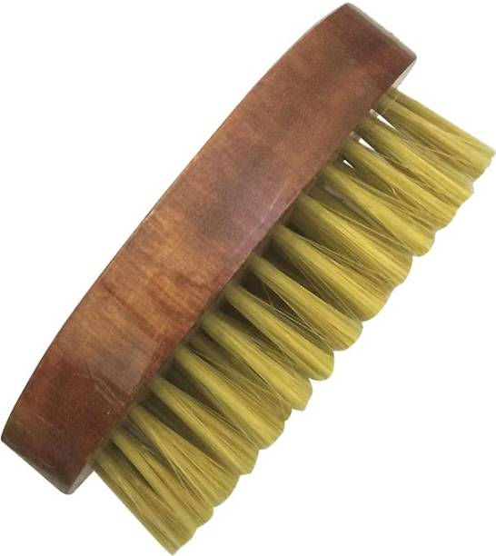 Romer-7 Pro Beard Cleaning Brush With Palm Fit Fine Grip Wood Handle with Boar Bristles Shaving Brush