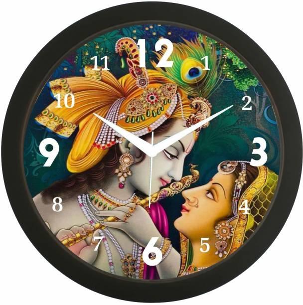 gs creation tan Analog 30 cm X 30 cm Wall Clock