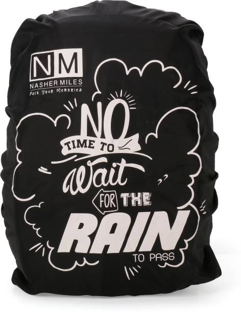 NASHER MILES Black Backpack Rain Cover Waterproof Laptop Bag Cover