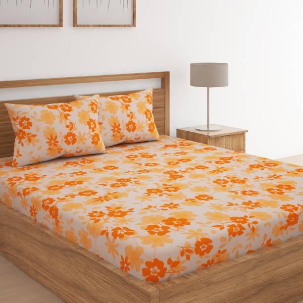 Flipkart SmartBuy 104 TC Cotton Double Floral Bedsheet