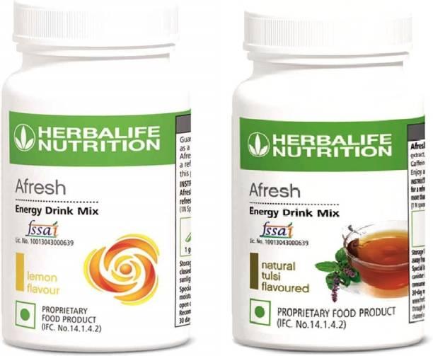HERBALIFE Afresh Energy Drink Mix Lemon and Tulsi Flavor 50 GM in Pack of 2 Energy Drink