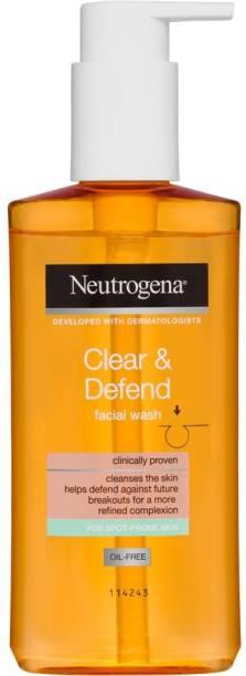 NEUTROGENA Clear & Defend Facial Wash Face Wash
