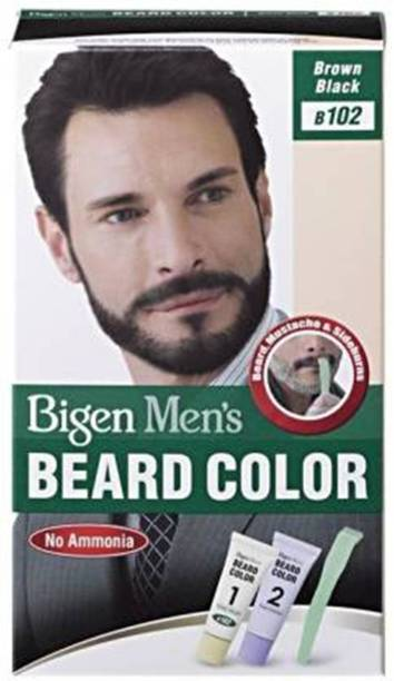 Bigen Men's Beard Color B102 Brown Black Hair Color , Black