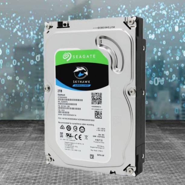 Seagate SKYHAWK 2 TB Surveillance Systems, Laptop, Desktop, Network Attached Storage, All in One PC's Internal Hard Disk Drive (2 TB Surveillance Systems Internal Hard Disk Drive (ST2000VX008))