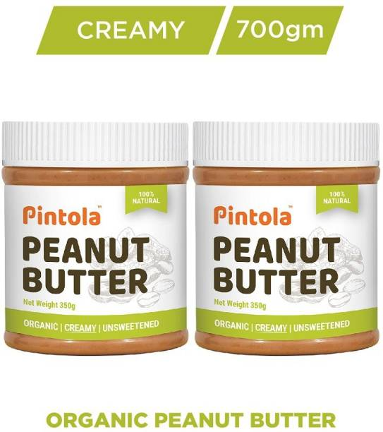 Pintola Organic Peanut Butter (Creamy) Pack OF 2 700 g