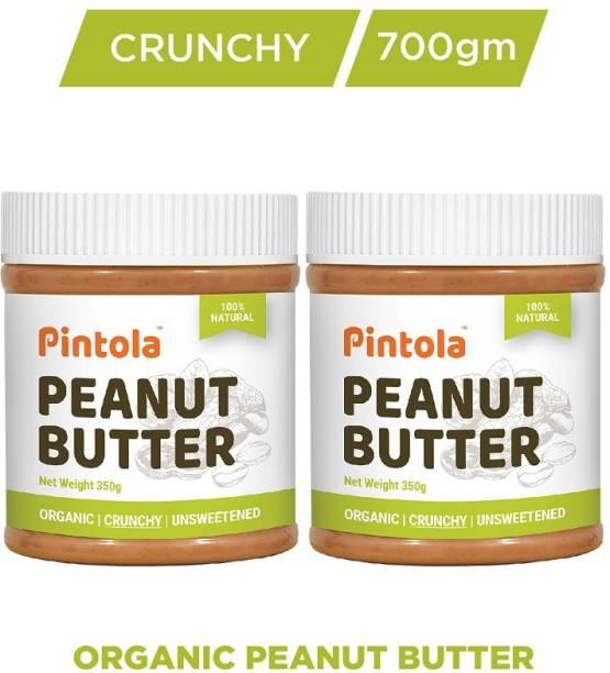 Pintola Organic Peanut Butter (Crunchy) Pack Of 2 700 g