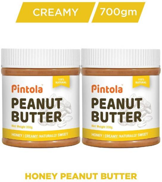 Pintola All Natural Honey Peanut Butter (Creamy) Pack Of 2 700 g