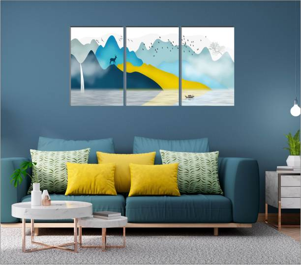 Flipkart Perfect Homes Large Panel Embossed 36 inch x 18 inch Painting