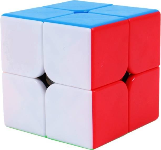 D ETERNAL MoYu MFJS MeiLong 2 2x2 High Speed Stickerless Magic Puzzle Cube Toy