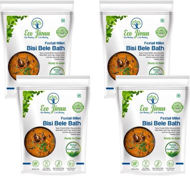 ECO JIVAN Instant Millet Bisi Bele Bath Combo Pack (Pack of 4, 200 g Each) 800 g