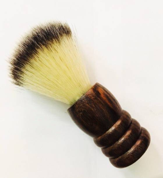 Romer-7 Fine Grip Long Sesame Wood Handle With Synthetic Bedger Style Bristles For Rich Lather Shaving Brush