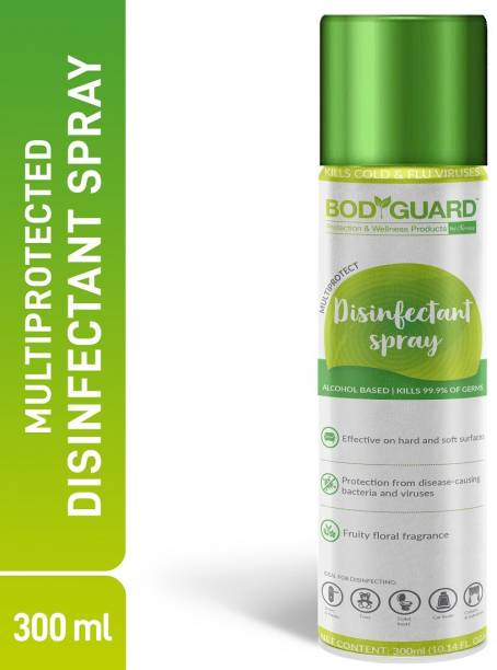 Bodguard Multipurpose Alcohol Based Disinfectant Sanitizer Spray - 300 ml, Kills 99.9% of Germs Spray