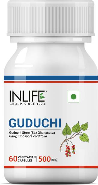 Inlife Guduchi Giloy (Tinospora Cordifolia) Supplement 60 Veg Caps
