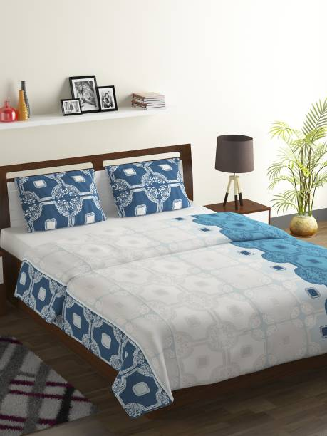 Bombay Dyeing 104 TC Cotton Double Abstract Bedsheet