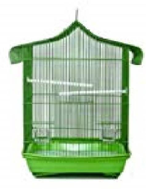 Taiyo Pluss Discovery Bird Cage Suitable For Love Birds And Finches (Size: (L- 43 cm X W-28 cm X H-44 cm) (GREEN) Bird House