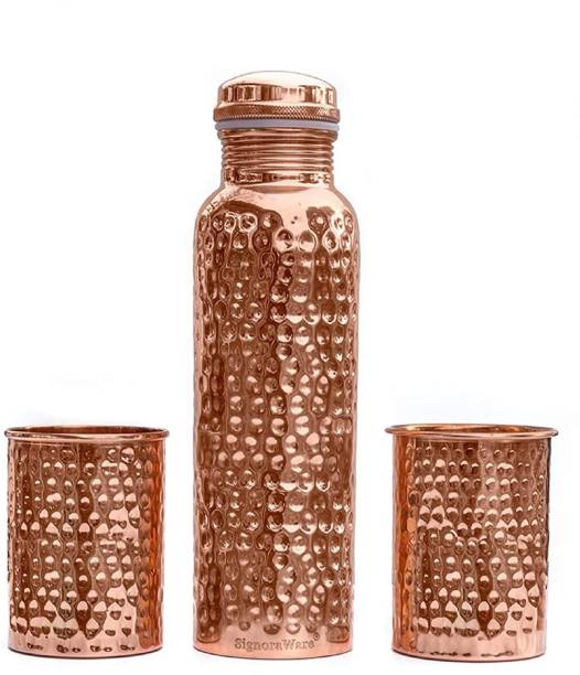 Signoraware Hammered Copper With two 1550ml 1550 ml Bottle