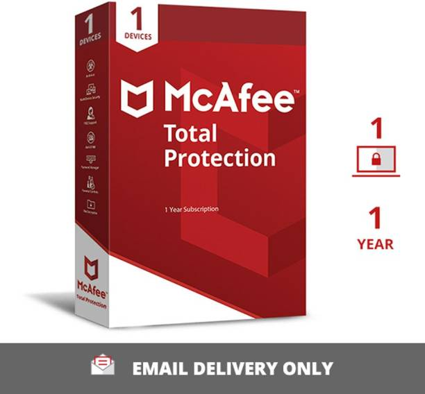 McAfee 1 PC 1 Year Total Security (Email Delivery - No CD)