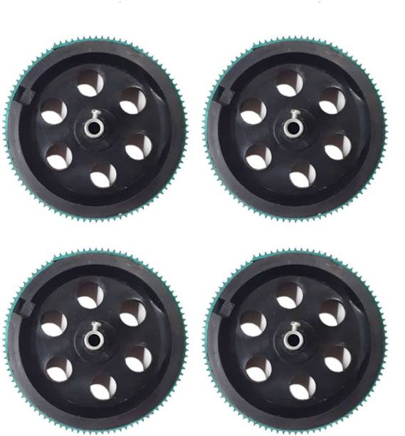 MELODY's 4pcs 90 mm x 20 mm Plastic Robotic Wheel for DC Geared Motor RC Car Robot