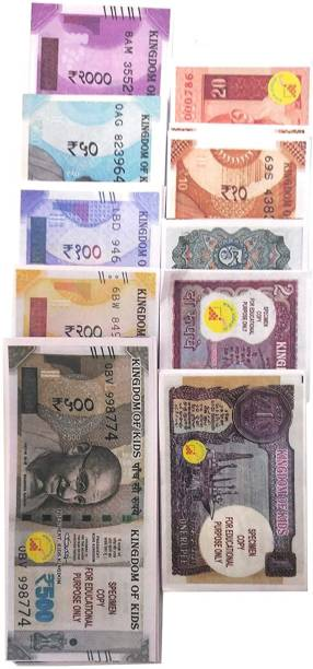 MyselfDee Dummy Currency notes for kids | 20 Each Fake notes for kids and dummy notes Money Gag Toy