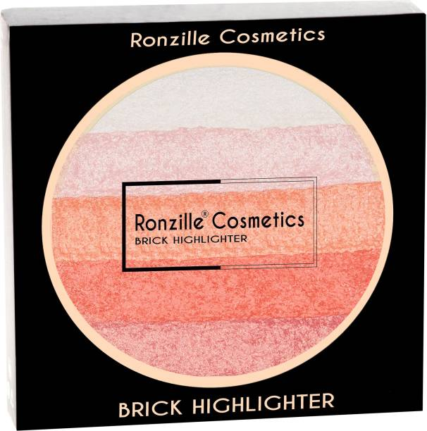 RONZILLE Face Master Chrome Metallic Highlighter Easy to Wear Long Lasting Highlighter (PINK) Highlighter