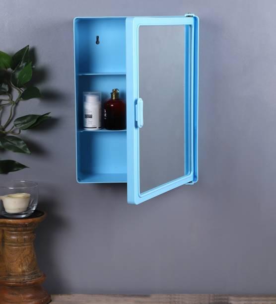 Zahab Bathroom Cabinets for Storage with Mirror (12 x 4X 16) inch Blue Dual Mount Medicine Cabinet