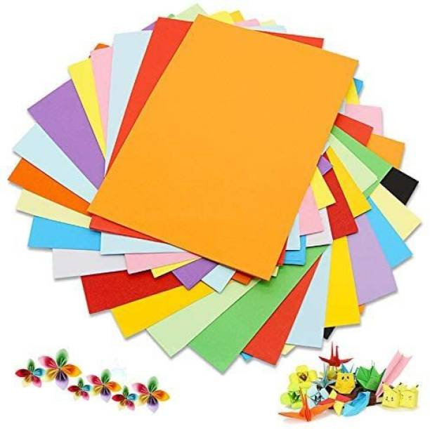 snow crafts Multipurpose Unruled A4 75 gsm Coloured Paper