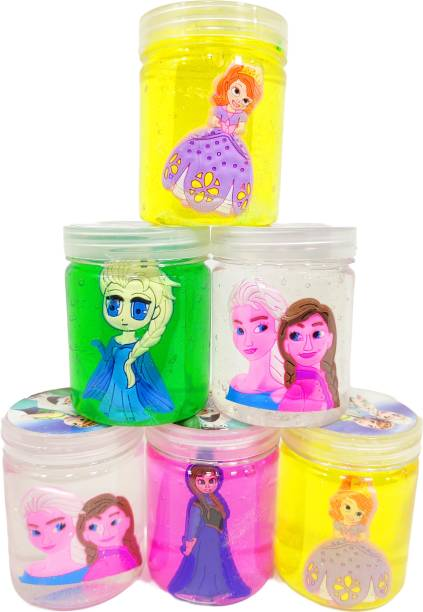 poksi frozen girls slime glue putty for kids pack of 6 Multicolor Putty Toy