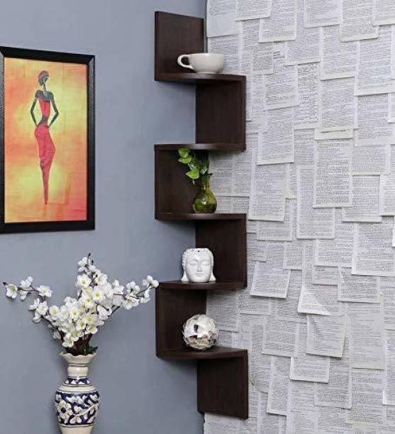 Dime Store Wall Shelf Wall Corner Wall Shelves For Home Living Room Home Décor MDF (Medium Density Fiber) Wall Shelf