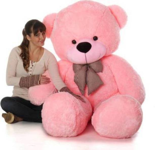 eston 4feet pink beautifull&best quality teddy bear best of luck & very cute .happy birthday gift ruff & tuff piece (pink)120.5 cm - 120.5 cm (Pink)  - 120.5 mm