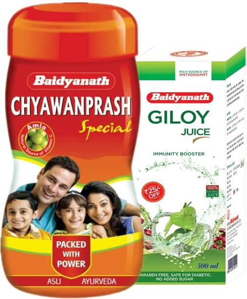 Baidyanath Chyawanprash Special (1 Kg) & Giloy Juice (500 Ml)
