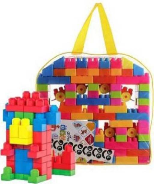 SHALAFI Building Blocks 100 Pcs,Creative Learning Educational Toy For Kids