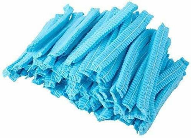 Roy variety's Disposable Stretchable Blue surgical head Caps Cover Hair For Cooking & Hygiene- pack of 50 Surgical Head Cap