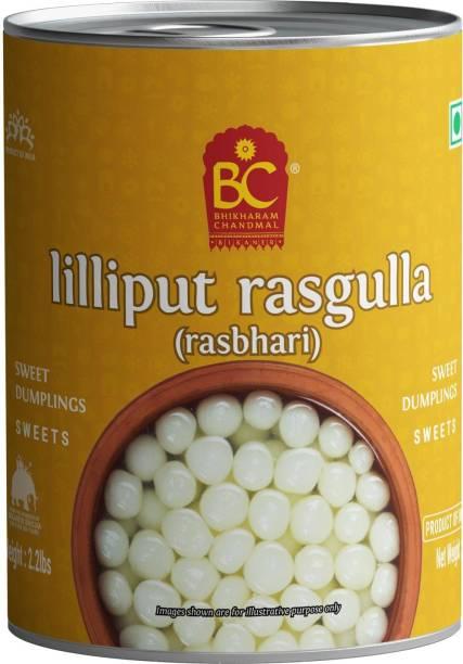 BHIKHARAM CHANDMAL Lilliput Rasgulla Tin 1kg - Pack of 1 Tin