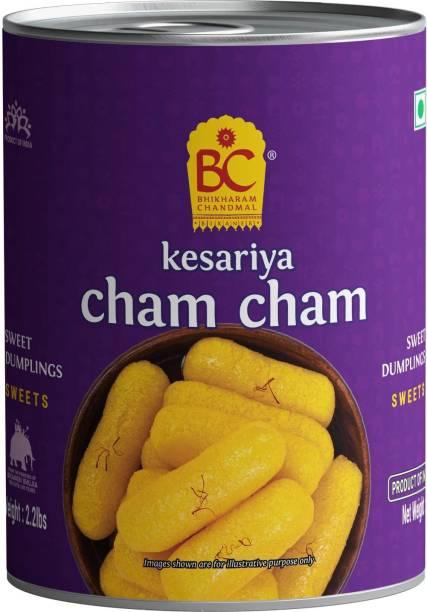BHIKHARAM CHANDMAL Kesariya Cham Cham Tin 1kg - Pack of 1 Tin