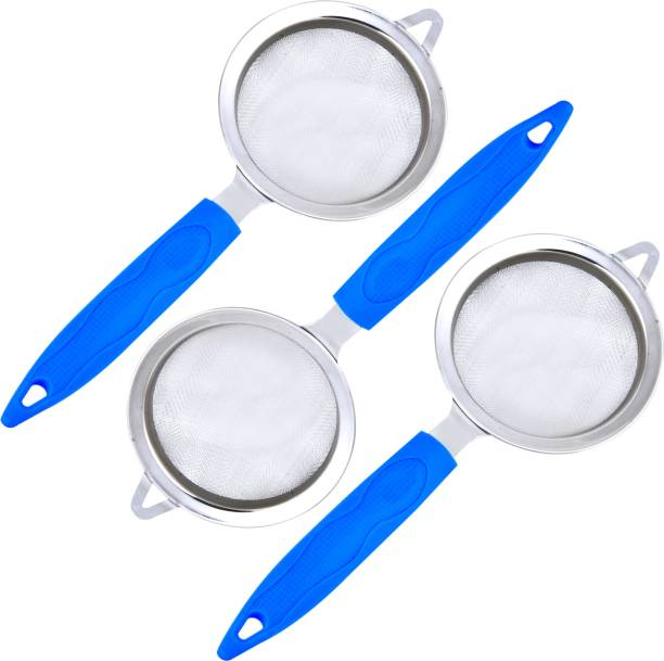 Lion Lender 3 Pcs Tea and Coffee Strainer,Chalani with Stainless Steel Mesh Tea Strainer(Blue,Pack Of 3) Tea Strainer