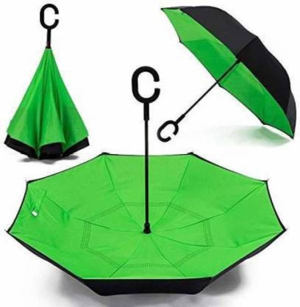 DARSHANAM WORLD DRSM Double Layer Inside-Out Inverted Umbrella and Self Standing, Reverse Folding Umbrella with C-shaped Hands Free Handle, best for Travelling Umbrella Umbrella Umbrella