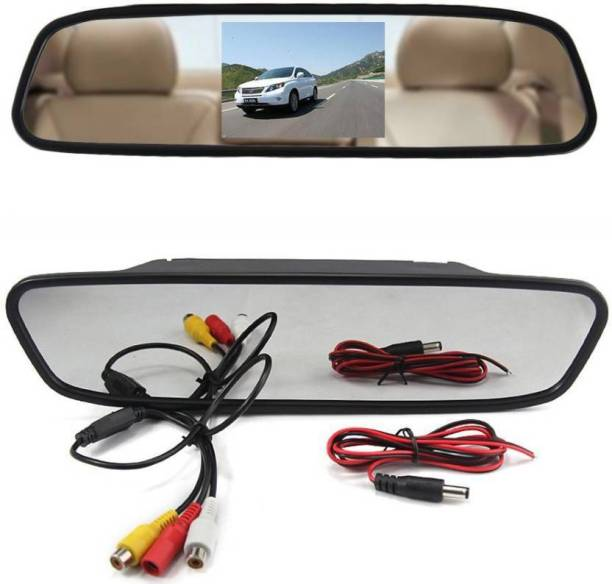 """carempire Rear View Backup Camera System - Parking Reverse Car Vehicle Rearview Back Up w/ 4.3"""" LCD Mirror Monitor Kit, Distance Scale Lines Vehicle Camera System"""