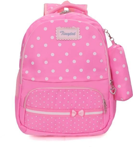 Tinytot SB116_01 School Backpack College Bag Travel Bag with Pencil Pouch 2nd Standard onward Waterproof School Bag