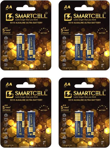 Smartcell 1.5V AA Non-Rechargeable Alkaline Premium Series  Battery
