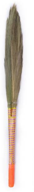 Monkey 555 Mach 2 - Natural Grass Dry Broom for Sweeping Floor Grass Dry Broom