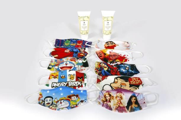 labonita Combo Set of 12 Piece ( 10 Kids Mask and 2 Sanitizer)
