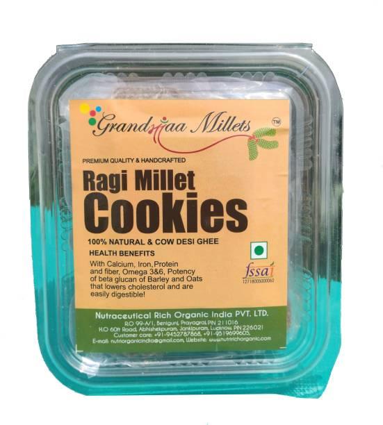 GRANDMAA Millets Ragi Desi Cow Ghee Cookies, High Fiber Delicious Cookies Cookies