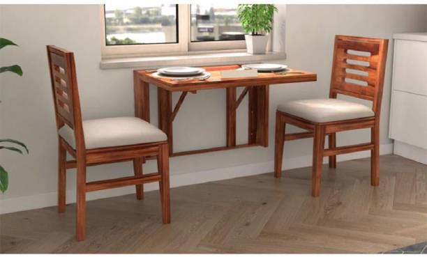 CORAZZIN Solid Wood 2 Seater Dining Set