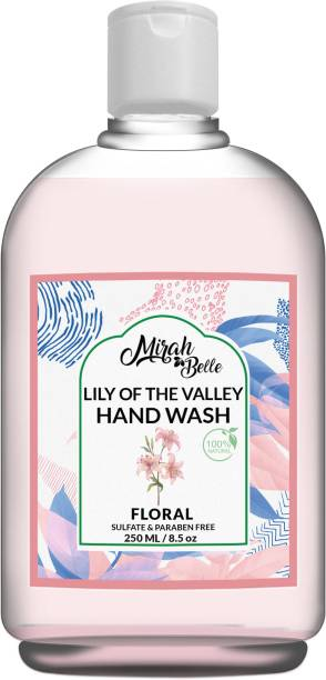 Mirah Belle Lily of the Valley Hand Wash (250 ml) - Natural Hand Wash - Sulfate & Paraben Free - Vegan, Natural, SLS, GMO-Free Hand Wash Bottle