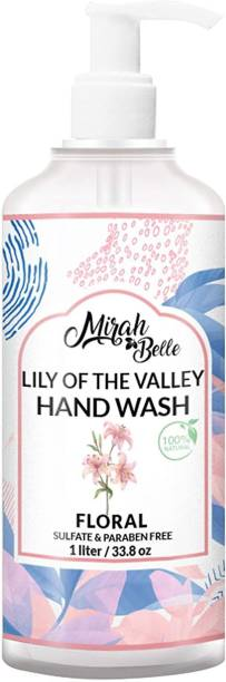 Mirah Belle Hand Wash Can (1 LTR) - FDA Approved - Bulk Pack for Refill - Best for Men, Women and Children - Sulfate and Paraben Free - 1000 ML Hand Wash Pump Dispenser
