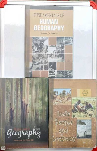 Class 12th Geography Full Set Of 3 Books (English Medium - Binded Books) (Hardcover, NCERT)