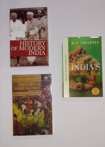 3 IAS/UPSC COMBO History Of Medival India By Satish Chandra, History Of Moder India By Bipin Chandra, India's Ancient Past By RS Sharma (Best Book Combo For IAS, IPS, IFS, UPSC, PSC, Civil Services , UGC-Net And All Indian Govt Exam)